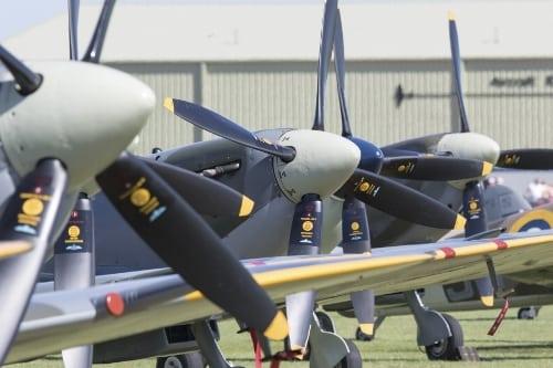 Spitfires at Duxford IWM